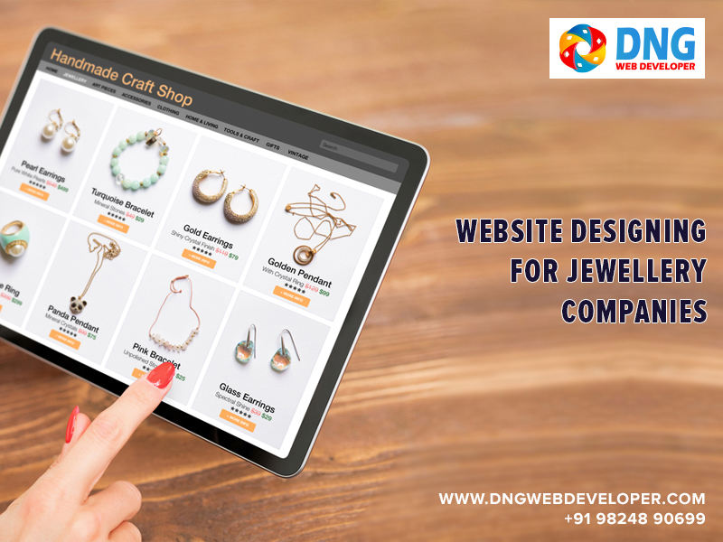 Jewellery Companies Website Designing in Ahmedabad India